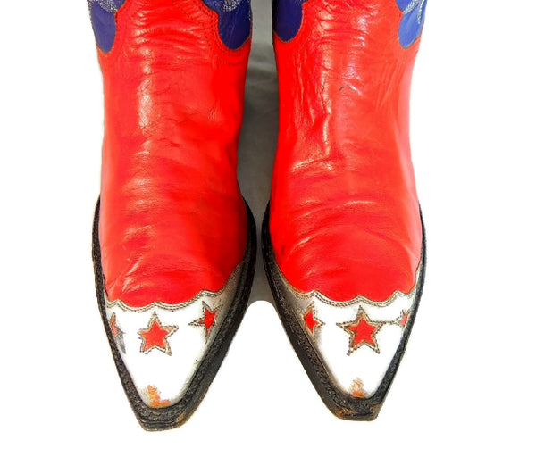 Vintage Americana Cowboy Boots Womens Silver Stars - Premier Estate Gallery  - 6