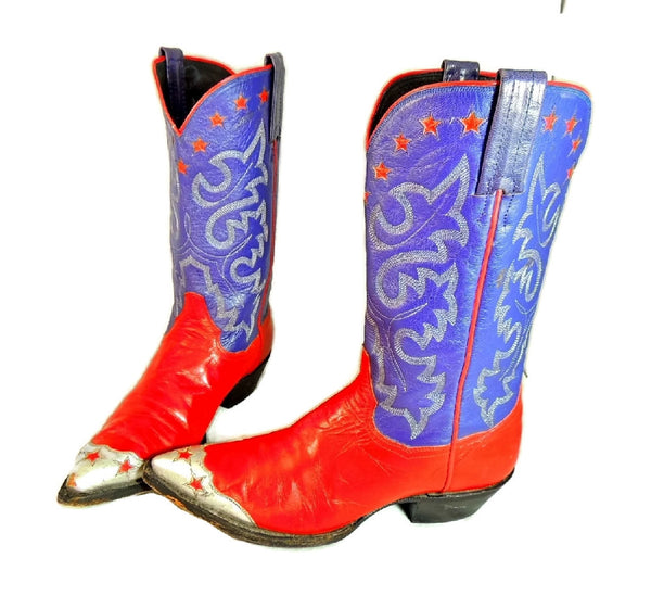 Vintage Americana Cowboy Boots Womens Silver Stars - Premier Estate Gallery  - 11