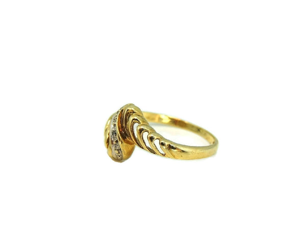Vintage 10k Gold Ring Open Work Design with Diamond Accent - Premier Estate Gallery  - 3