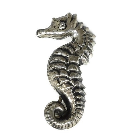 Vintage Sterling Silver Seahorse Pin Small Coastal Jewelry - Premier Estate Gallery