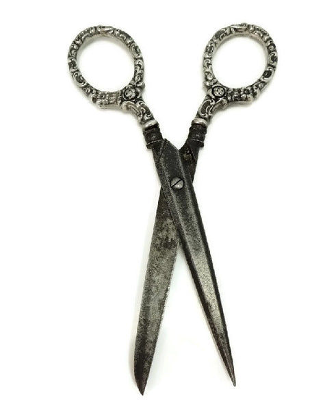 Silver Antique Sewing Scissors Germany - Premier Estate Gallery