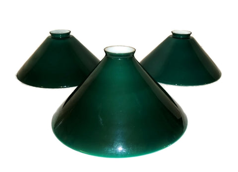 Emeralite Cased Glass Lamp Shades Vintage Set of Three - Premier Estate Gallery  - 1