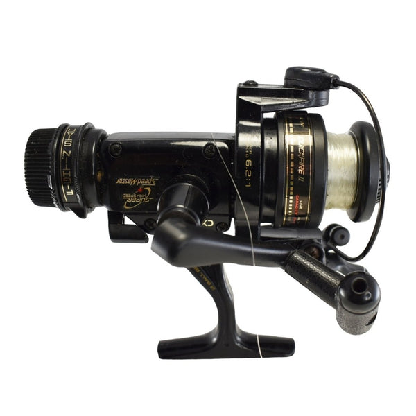 1980s Shimano Speedmaster CX2000SQ Spinning Reel w Quickfire II Fishing Reel 1