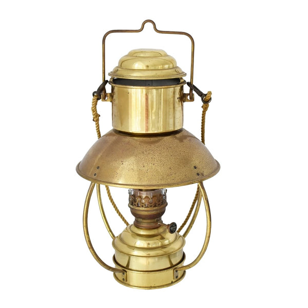 Vintage Brass Trawler Lantern DHR Den Haan w Ideal 20 Burner - Premier Estate Gallery