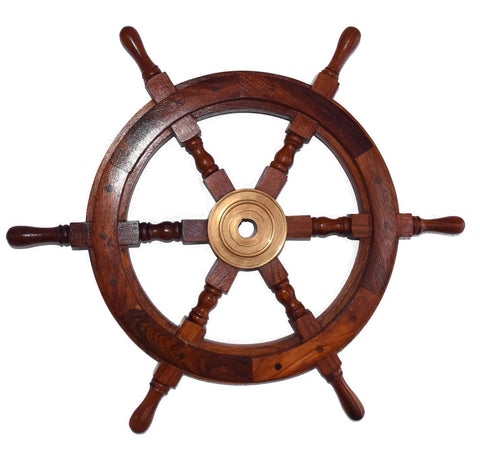 Estate Ships Wheels Coastal Nautical Wall Decor X2 - Premier Estate Gallery  2
