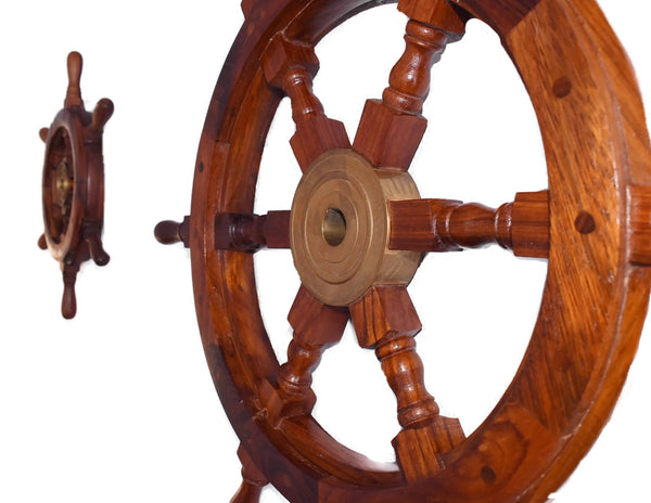 Estate Ships Wheel Coastal Nautical Wall Decor