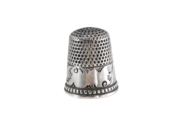 Antique Silver Thimble Ketchum & McDougall Unengraved - Premier Estate Gallery 1