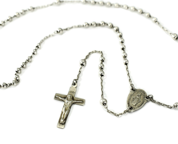 Antique Miniature Rosary Beads Sterling Silver from Europe c1920 - Premier Estate Gallery 1