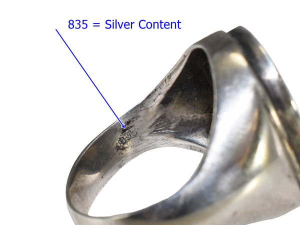 1950s European Silver Men's Signet Ring Ready for Engraving Initials