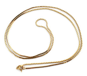 14k Gold Box Chain Italy Vintage c1970s - Premier Estate Gallery