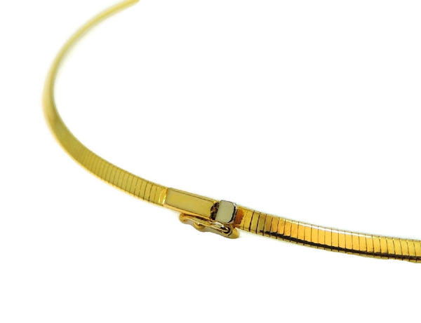 14k Gold Omega Chain Necklace Choker 3mm - Premier Estate Gallery  - 5