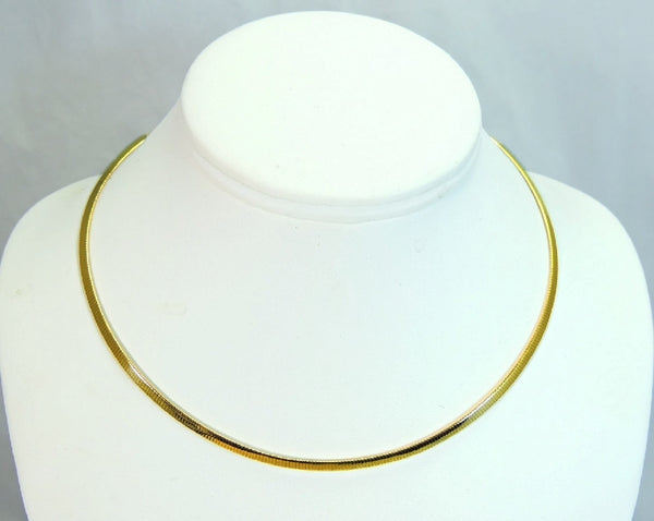 14k Gold Omega Chain Necklace Choker 3mm - Premier Estate Gallery  - 4
