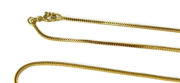 18k Gold Italy Square Foxtail Chain 7.7g 27.5 inch