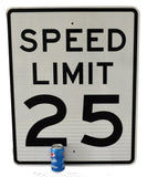 Authentic Road Sign 25 MPH Speed Limit Big 30X24 inch Vintage Industrial Sign - Premier Estate Gallery 1
