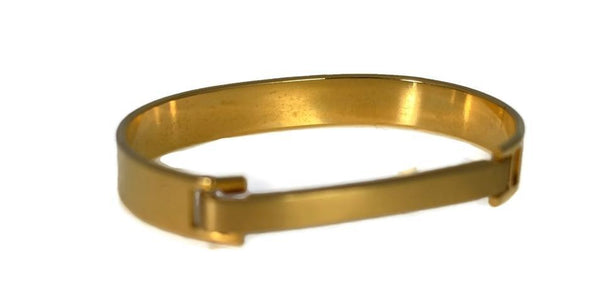 1970s Gold Plate Speidel ID Bracelet Hinged Cuff Great Vintage Style Orig Box - Premier Estate Gallery 3