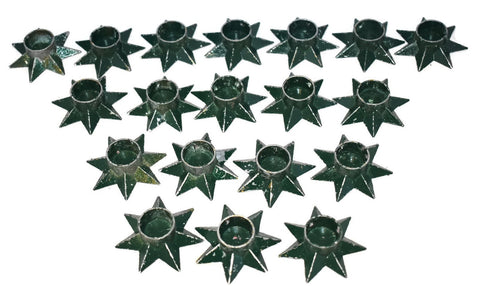 Vintage Danish Modern Star Candlestick Holders Set of Nineteen  - Premier Estate Gallery