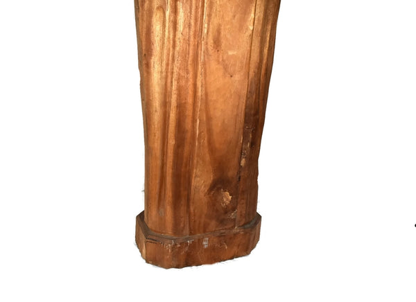 Catholic Saint John Neumann Vintage Wood Carved Statue 4 Feet Tall