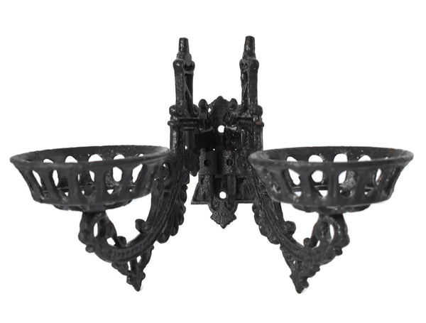 Antique Victorian Iron Wall Sconce Oil Lamp Holder - Premier Estate Gallery 1