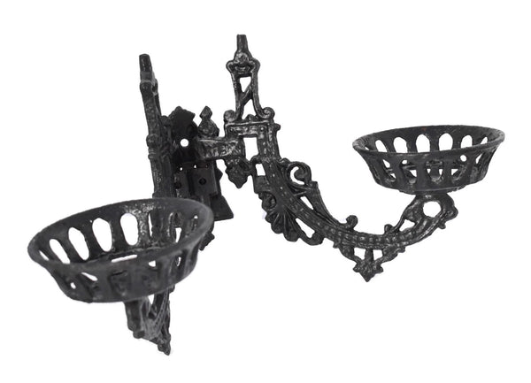 Antique Victorian Iron Wall Sconce Oil Lamp Holder - Premier Estate Gallery 2