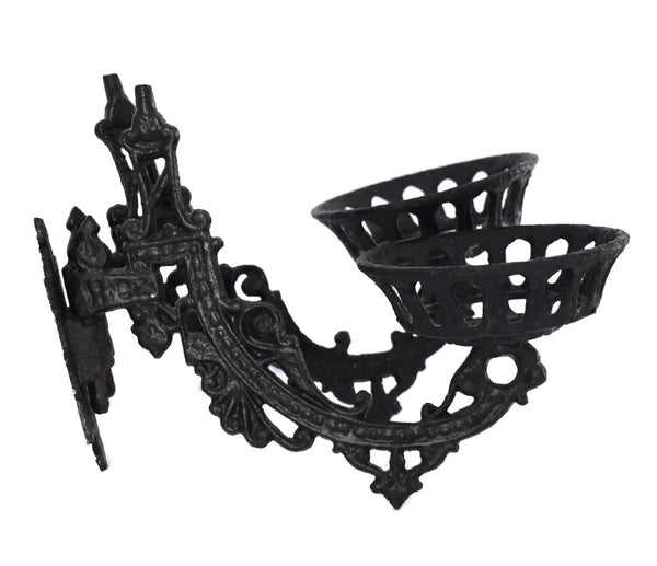 Antique Victorian Iron Wall Sconce Oil Lamp Holder - Premier Estate Gallery 3