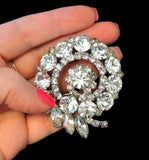 Vintage Rhinestone Fantail Brooch Hollywood Glamour - Premier Estate Gallery  - 3