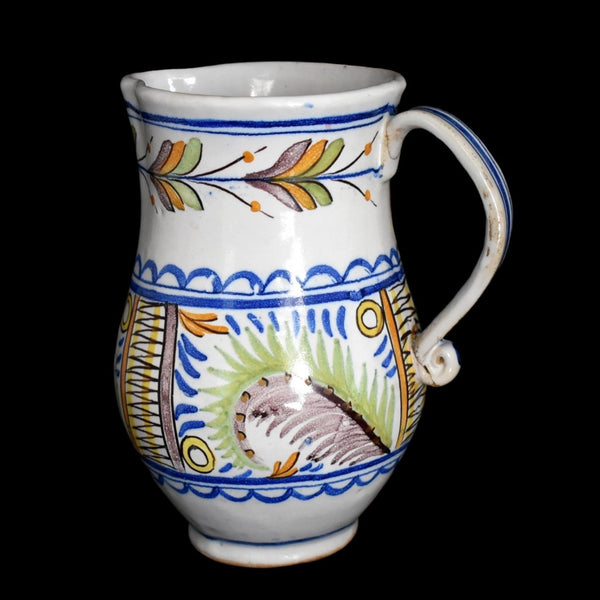 c1800 Faience Tin Glaze Jug Talavera Spain Tin Glaze - Premier Estate Gallery