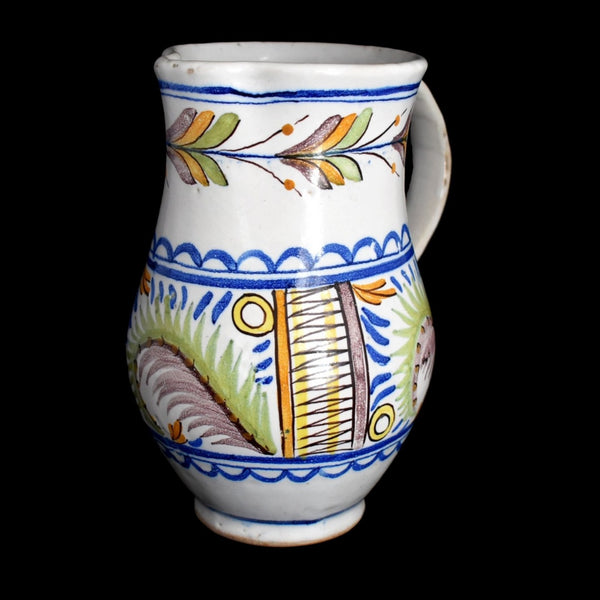 c1800 Faience Tin Glaze Jug Talavera Spain Tin Glaze - Premier Estate Gallery 1