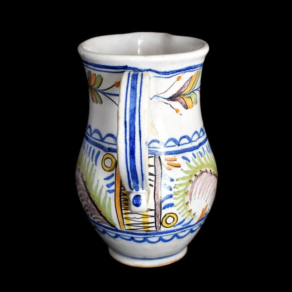 c1800 Faience Tin Glaze Jug Talavera Spain Tin Glaze - Premier Estate Gallery 2