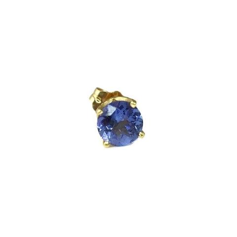 14k Gold Tanzanite Stud Earring Single Earring .65 ct - Premier Estate Gallery