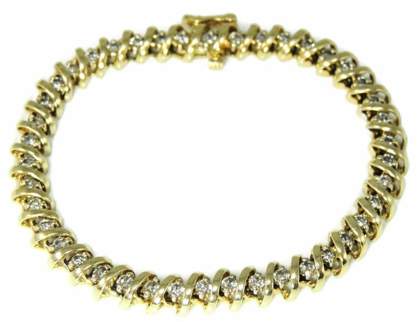 Diamond Tennis Bracelet 14k Gold 4.2 ctw