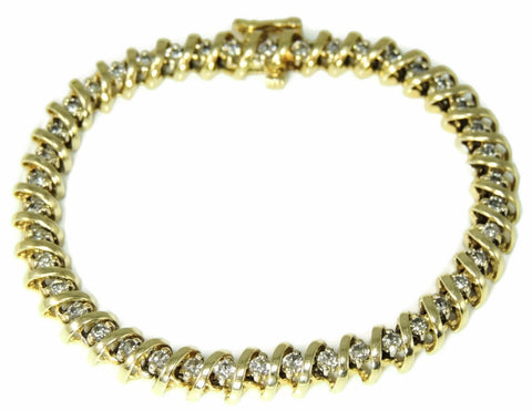 Diamond Tennis Bracelet 14k Gold 4.2 ctw - Premier Estate Gallery  - 1