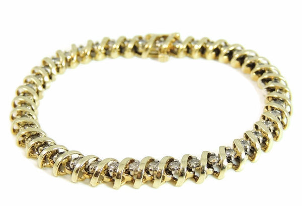 Diamond Tennis Bracelet 14k Gold 4.2 ctw - Premier Estate Gallery  - 2
