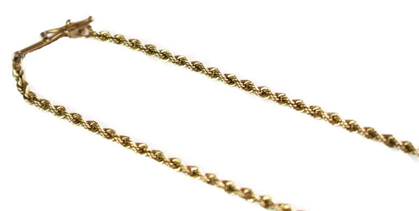 Vintage 14k Gold Rope Chain 5.8g 18 Inch
