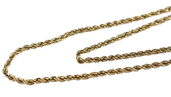 Vintage 14k Gold Rope Chain - Premier Estate Gallery