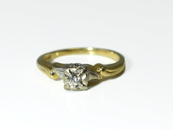 Deco Era 14k Diamond Engagement Ring .10 ct Reasonably Priced - Premier Estate Gallery 3