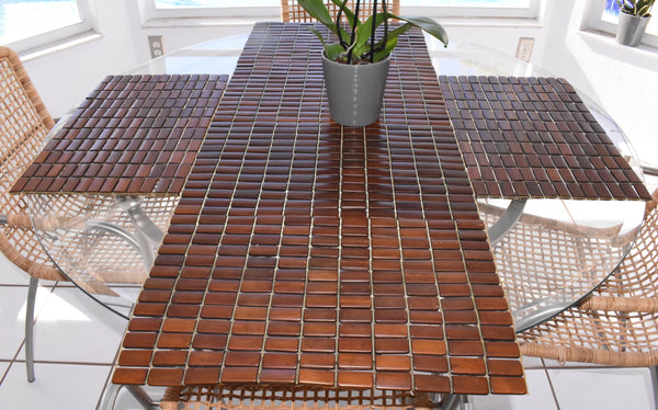 Vintage Teak Slat Placemats Great MCM Decor Set of 6 - Premier Estate Gallery 1