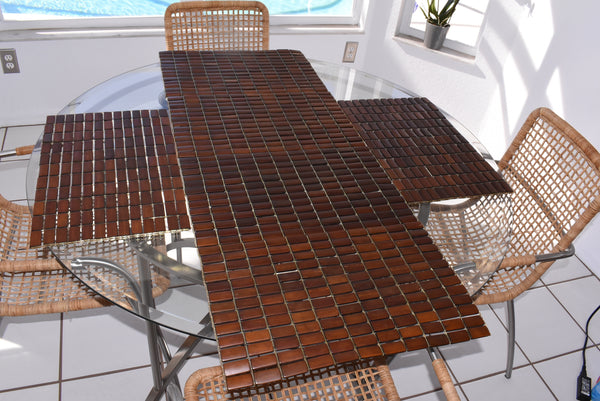 Vintage Teak Slat Placemats Great MCM Decor Set of 6