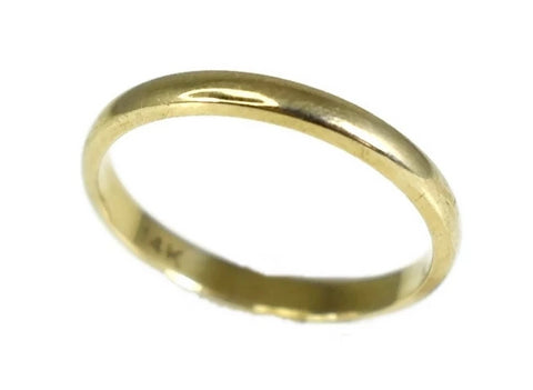 14k Gold Wedding Band Thin 2.5mm Band - Premier Estate Gallery