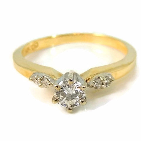 Contemporary Diamond Engagement Ring 14k Gold - Premier Estate Gallery  - 1