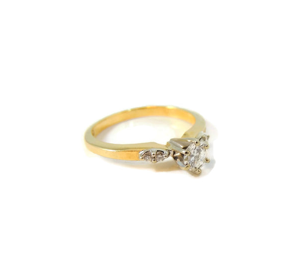 Contemporary Diamond Engagement Ring 14k Gold - Premier Estate Gallery  - 2