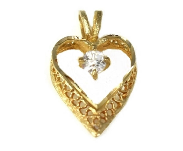 14k Gold Filigree Heart Pendant - Premier Estate Gallery