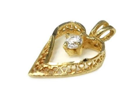 14k Gold Filigree Heart Pendant - Premier Estate Gallery 2
