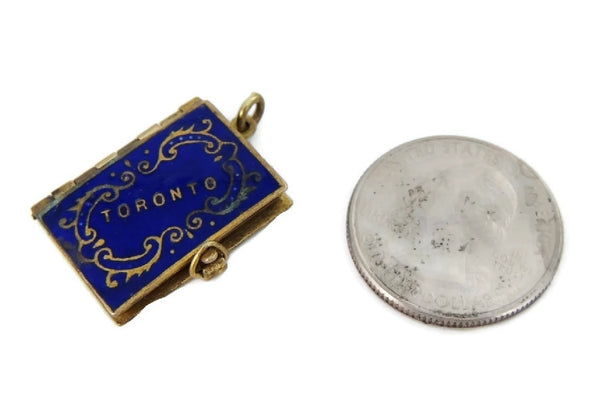 Antique Enamel Toronto Photograph Charm - Premier Estate Gallery