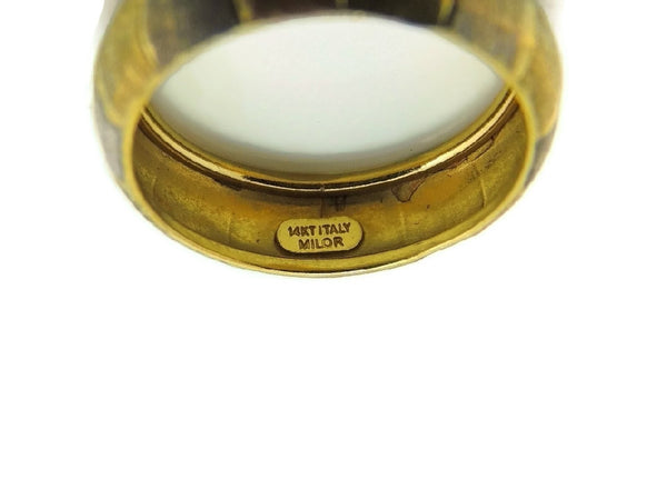 14k Tri-Color Gold Band Ring Satin Matte Finish - Premier Estate Gallery  - 3