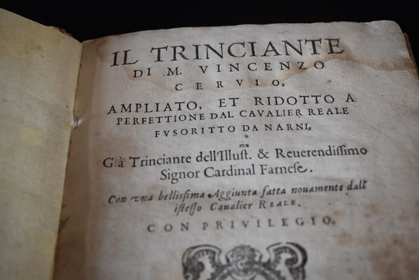 Rare Book 1593 Il Trinciante  Vincenzo Cervio  Reale Fusoritto, The Carver, Fold Out Plates