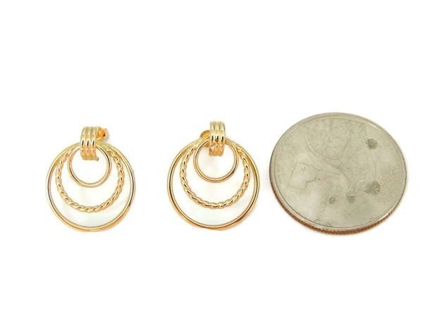 Classic Triple Circle 14k Gold Earrings - Premier Estate Gallery  - 4