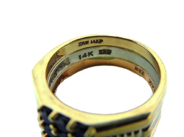 14k Sapphire Tri Color Gold Ring .81 ctw - Premier Estate Gallery  - 4