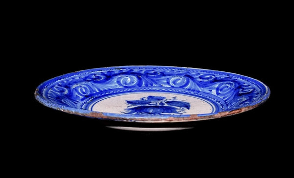 19th Cent European Tin Glaze Earthenware Charger Antique Blue and White Stoneware - Premier Estate Gallery 3
