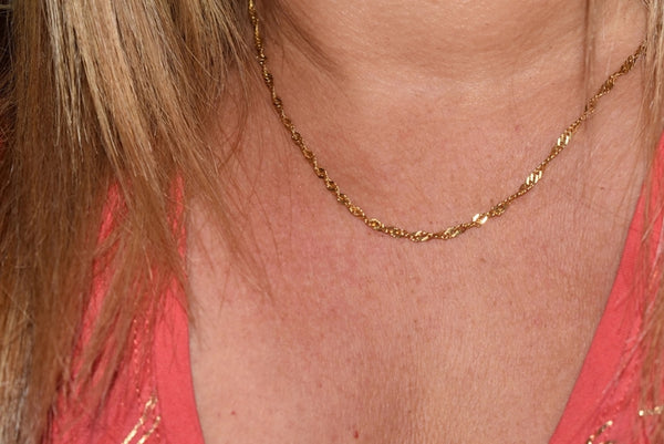 Estate 14k Singapore Chain Italy 18 Inch