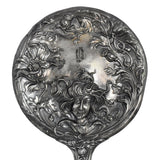 Estate Art Nouveau Silver Plate Hand Mirror Repousse Lady with Flowing Hair - Premier Estate Gallery 3